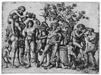 das bacchanal (after andrea mantegna) by hieronymus hopfer