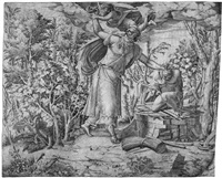 der engel, den arm abrahams zurückhaltend (after primaticcio?) by french school-fontainebleau (16)