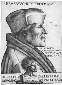 bildnis des erasmus von rotterdam (after quentin matsys (?)) by hieronymus hopfer