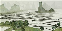 terraced fields by pang jun
