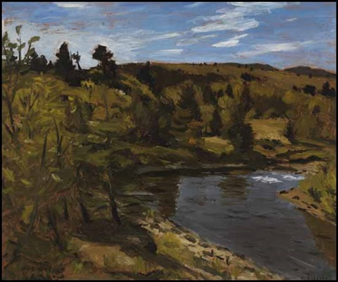 late afternoon on the mar river by william goodridge roberts