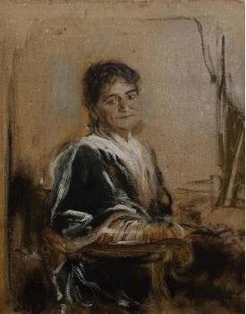 portrait der schwiegermutter gräfin von hornstein by franz seraph von lenbach