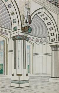 ohne titel (portfolio of 61 architectural designs) by paul lauser