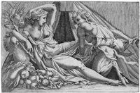 jupiter und antiope (after antonio fantuzzi) by ferdinand elle