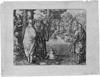 die taufe christi im jordan by lucas van leyden