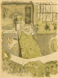 le jardin devant l'atelier by edouard vuillard