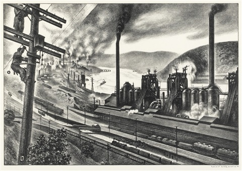 steel valley by louis lozowick