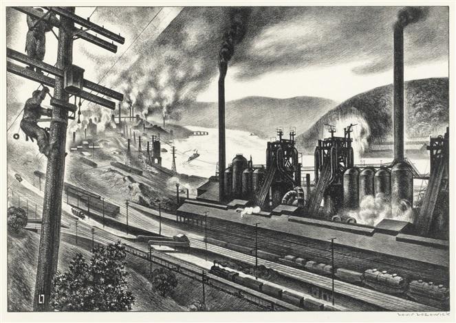 steel valley by louis lozowick