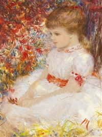 portrait of a young girl by harry myers