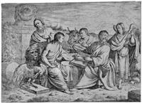 die vier evangelisten im gespräch by johannes lutma the younger