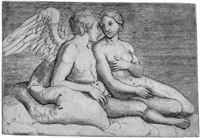 amor und psyche (after raphael) by giacomo francia