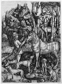 der hl. eustachius (after albrecht dürer) by hieronymus hopfer