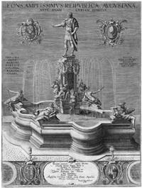 der augustusbrunnen zu augsburg by lukas kilian