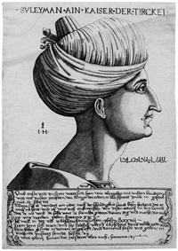 bildnis des türkischen kaisers suleiman by hieronymus hopfer