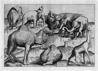 exotischen tieren nach antiken wandmalereien - tre tavole di diversi animali pigliate da pittura antiche (+ 2 others; 3 works) by antonio lafreri