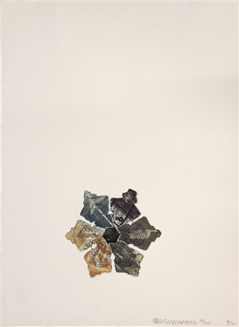 400 and rising from la flakes by robert rauschenberg