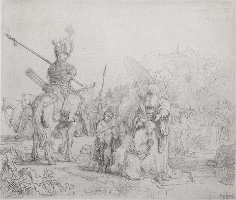 the baptism of the eunuch by rembrandt van rijn