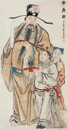 加官进爵图 by huang shanshou