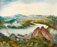 blick auf grönenbach by richard gessner