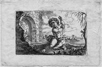 der sitzende armor in einer landschaft by christoph metzger