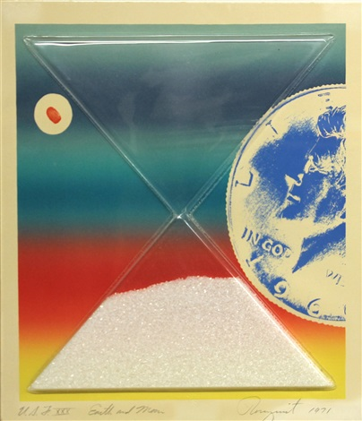 earth and moon from cold light suite by james rosenquist