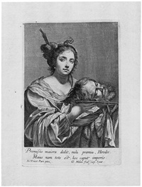 judith mit dem kopf des holofernes (after simon vouet) by claude mellan