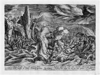 das israelische volk durchquert das rote meer (after hans bol) by julius goltzius