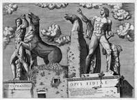 die dioskuren praxiteles und fidia am quirinal by antonio lafreri