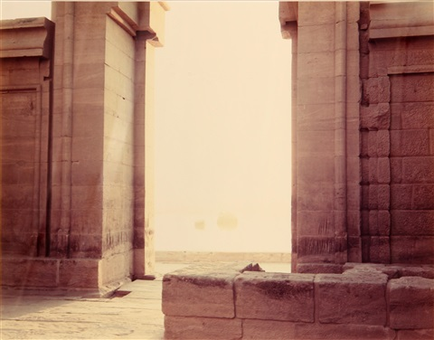 philae temple and nile by richard misrach