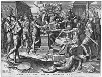 die entführung auf dem einhorn (der raub der proserpina) (after dürer) by hieronymus hopfer