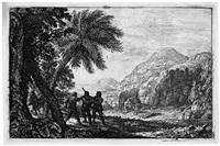 scène de brigands (landschaft mit briganten) by claude lorrain