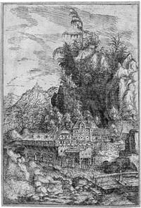 landschaft mit der wassermühle by hans sebald lautensack