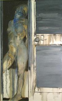 desnudo azul by julio lavallen