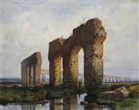 die acqua claudia in der römischen campagna by karl theodor reiffenstein