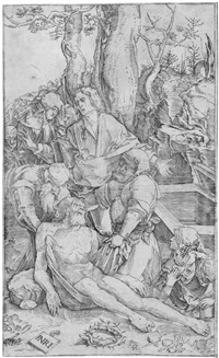 die grablegung (after albrecht dürer) by nicoletto da modena