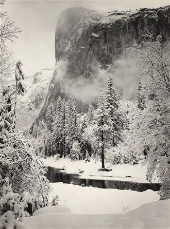 el capitan winter yosemite national park morning merced river canyon yosemite national park 2 works by ansel adams