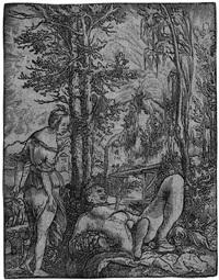 pyramus und thisbe by wolf huber