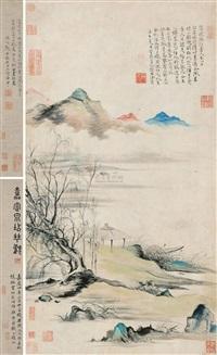 溪亭梓渡图 (landscape) by xu ben