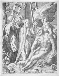 die beweinung christi by orazio (aquilano) de santis