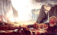 view of yosemite valley by american school-california (19)