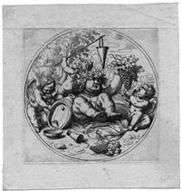 spielende putten mit jungem bacchus by domenico peruzzini