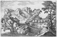 anthropomorphe landschaft by matthäus merian