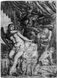 allegorie mit fama und chronos by cesare fiori