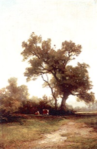 lake county landscape with cow by carl von perbandt