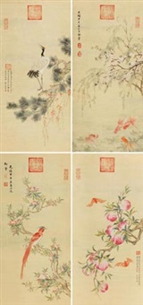 花鸟 (in 4 parts) by empress dowager cixi
