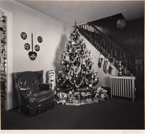 chi chis luncheonette and interior with christmas tree 2 works by george tice
