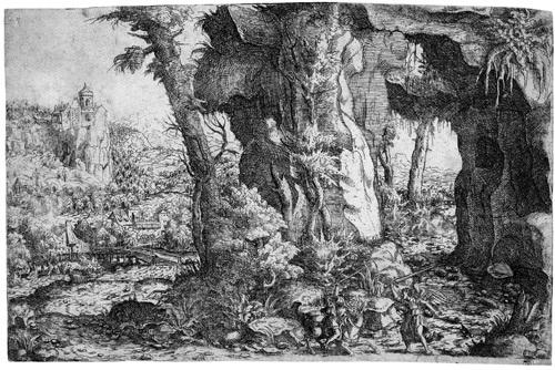 die landschaft mit bileam und der eselin by hans sebald lautensack