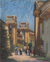 the palace of fine arts, pan pacific international exposition, san francisco by american school-california (19)