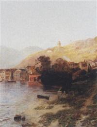 südliches küstendorf by georg hesse