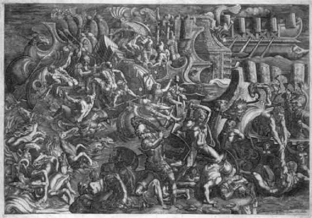 die trojaner drängen die griechen zu den schiffen zurück by giovanni battista ghisi